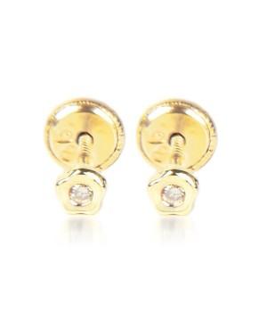 Cercei de aur 18K copii bebelusi Floricele cu pietre 3mm Cercei din aur
