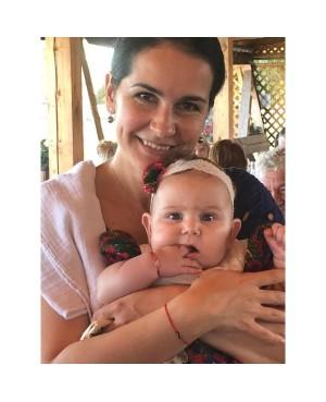 Bratara aur 14k nou nascut bebelusi snur rosu Infinit 8mm Acasa