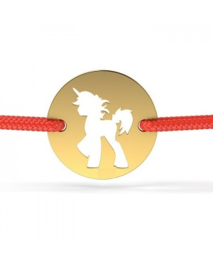 Bratara aur 14k pentru bebelusi copii snur rosu Banut cu unicorn Acasa