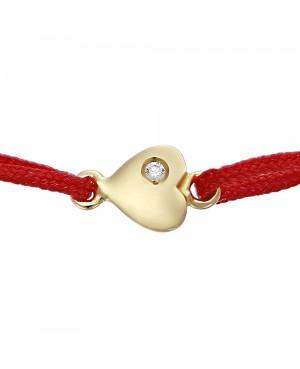 Bratara rosie aur 14k nou nascuti copii snur rosu Inimioara cu diamant Acasa