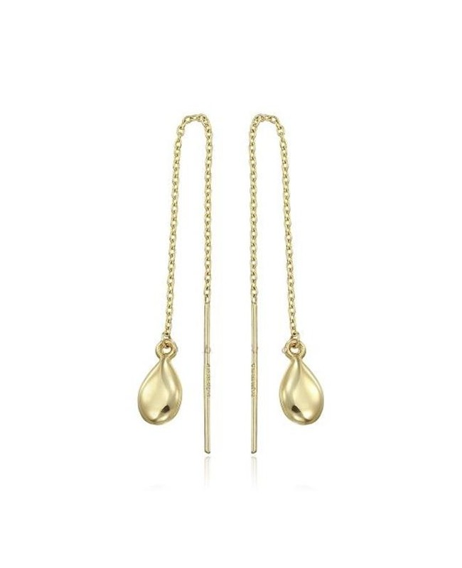 Cercei de aur 14K lungi ieftini lantisor dama model Lacrima Cercei aur lungi