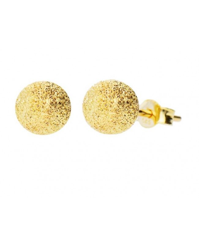 Cercei de aur galben 14k mici dama cu surub Bobite diamantate 4 mm Cercei din aur dama