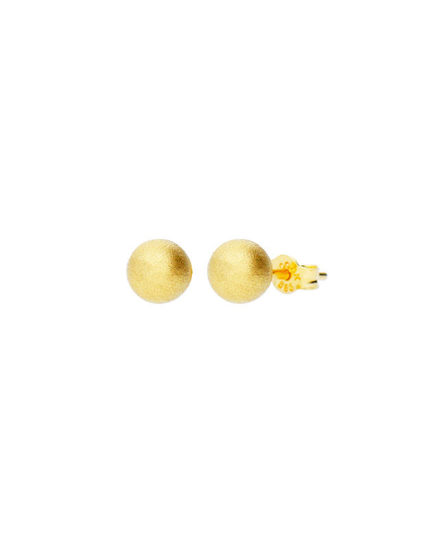 Cercei aur galben 14k dama cu surub Bilute sidefate 7 mm Cercei din aur dama