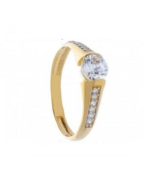 Inel de logodna din aur 14K cu pietre Zirconiu R14 Acasa