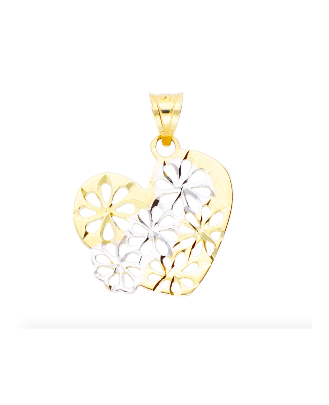 Medalion bijuterie din aur galben 14k Inimioara Acasa