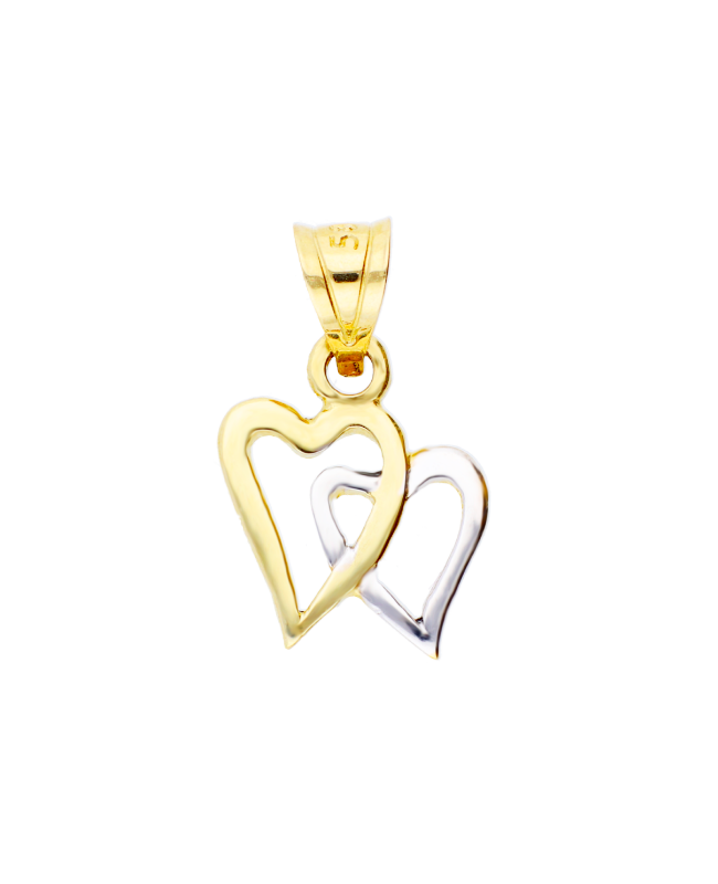 Medalion bijuterie din aur galben 14k Inimioare Acasa