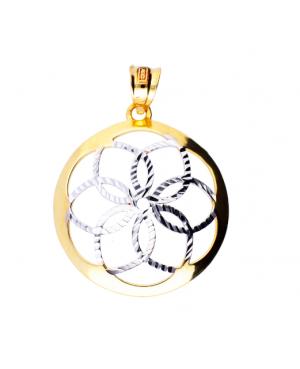 Pandativ medalion de aur 14k cadouri femei Floricica Acasa