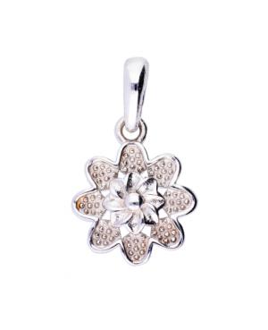 Medalion aur alb 14k cadouri femei Floricica Acasa