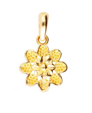 Medalion din aur 14k bijuterii femei Floricica Acasa