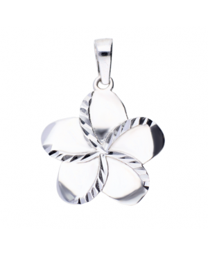 Medalion aur alb 14k dama Floricica Acasa