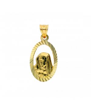 Medalion din aur galben 14k Icoanita Acasa