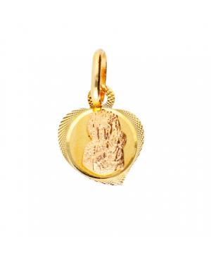 Medalion pandant aur 14K Iconita Maica Domnului cu Pruncul Acasa