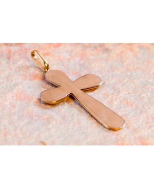 Medalion Cruce mare de aur 14k Bijuterii Acasa