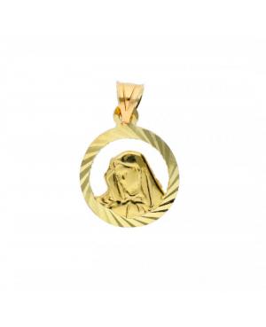 Pandantiv Medalion aur 14K Iconita Maica Domnului Acasa
