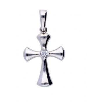 Cruce aur alb 14k bijuterii zirconia Acasa