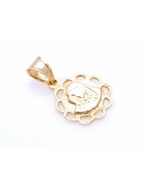 Pandant din aur galben ICONITA Maica Domnului Acasa