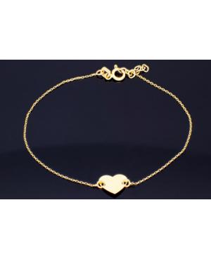 Bratara aur 14K mobila dama cu Inimioara gravabile - Bratari de aur femei Acasa