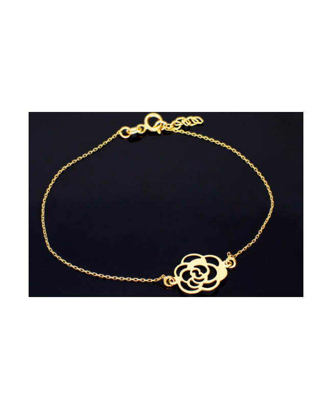 Bratara aur 14K mobila dama cu Floare - Bratari de aur femei Acasa
