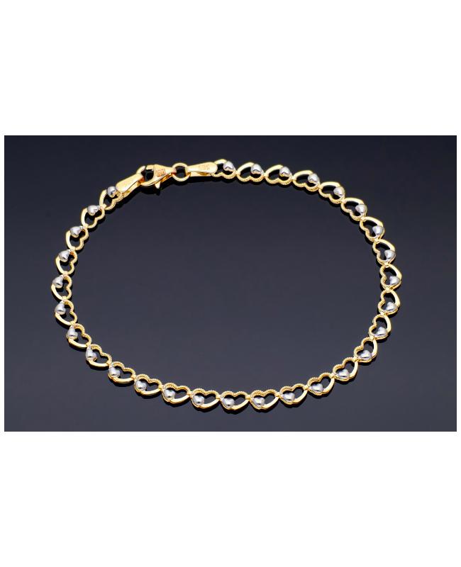 Bratara aur 14K mobila dama cu Inimioare - Bratari de aur femei Acasa