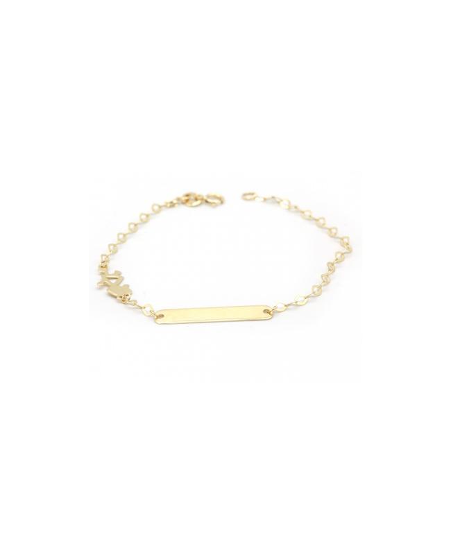 Bijuterii aur galben Bratara copii model cu Fetita Acasa