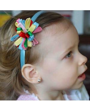 Cercei din aur alb 14k copii fetite Floricele cu piatra 5mm Cercei din aur