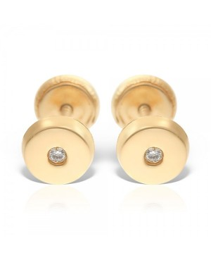 Cercei din aur 14k cu Diamant bebelusi nou nascuti 4 mm Cercei din aur