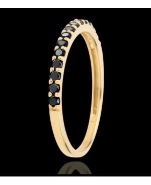 Inel de aur roz 14K verigheta pietre negre dama R14 Acasa