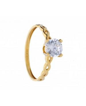 Inel de logodna Solitaire din aur galben 14K R17 Acasa