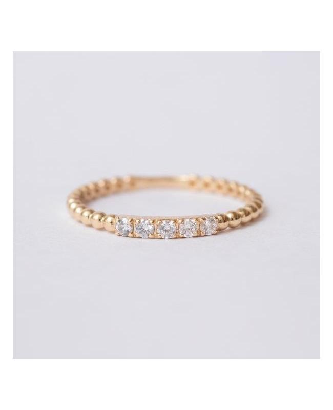 Inel de aur 14K verigheta pietre albe dama masura 14 Acasa