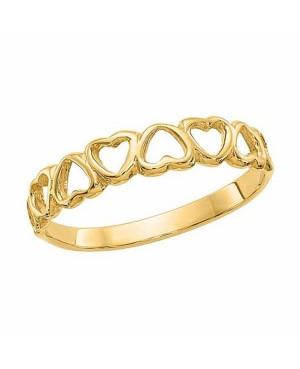 Inel de aur 14K verigheta inimioare dama masura 14 Acasa