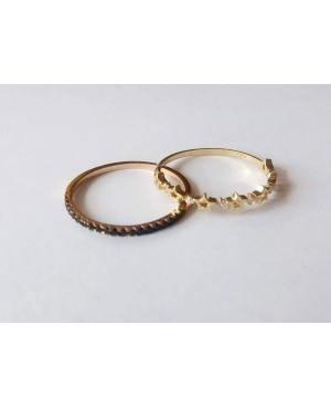Inel de aur 14K verigheta stelute cu pietre dama masura 14 Acasa