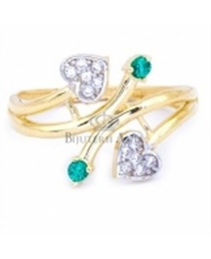 Bijuterii inel de aur galben 14k colectie noua INIMIOARE R13 Acasa