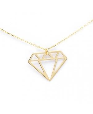 Lantisor de aur 14K dama pandantiv Diamant Acasa
