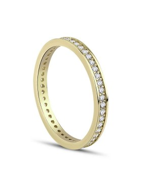 Inel de aur 14k bijuterii dama verigheta tennis R8 Acasa