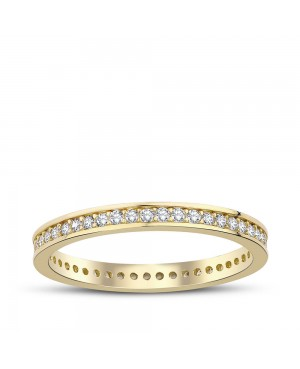 Inel de aur 14k bijuterii dama verigheta tennis R14 Acasa