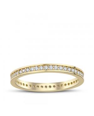 Inel de aur 14k bijuterii dama verigheta tennis R10 Acasa