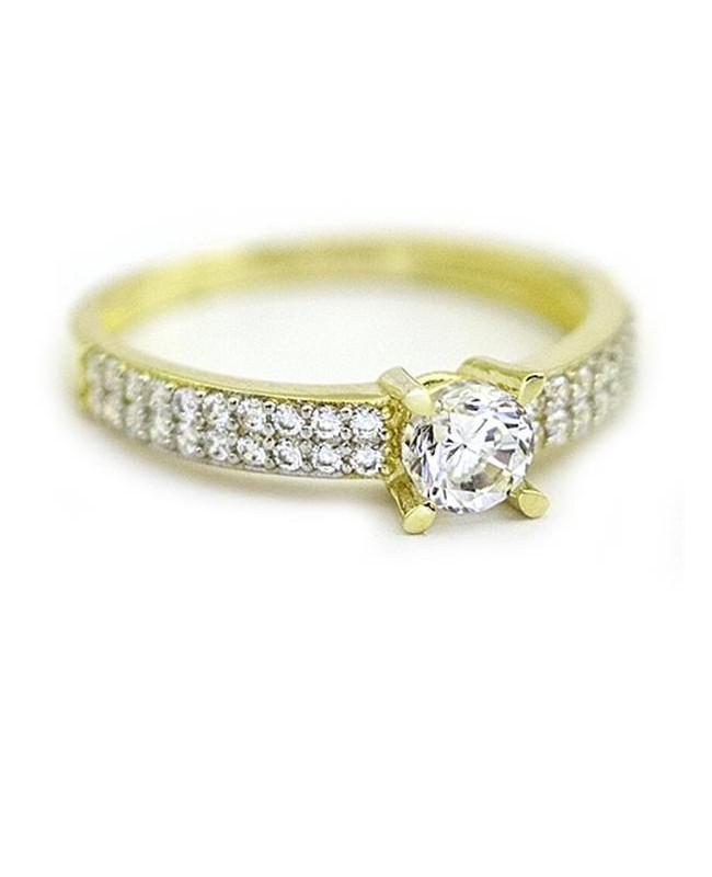 Inel de logodna din aur galben 14K dama model superb R13 Acasa