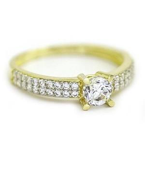 Inele de logodna din aur galben 14K femei model superb R13 Acasa