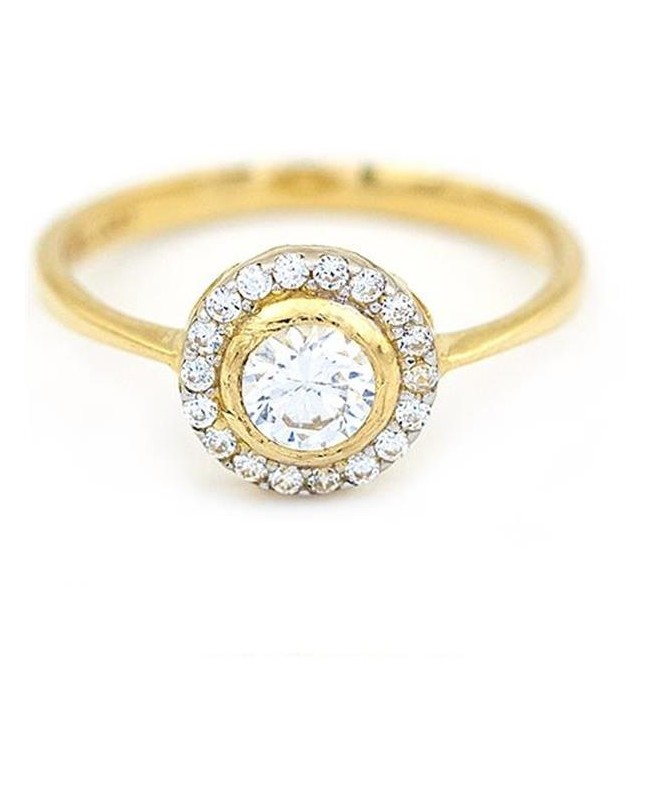 Inele de logodna din aur galben 14K dama model Solitaire R13 Acasa