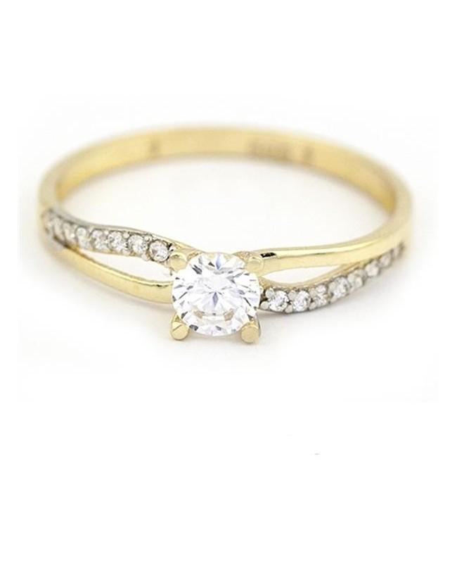 Inel de logodna din aur 14K dama pietre zirconiu R12 Acasa