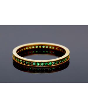 Inel din aur 14K dama tip verigheta Smarald R12 Acasa