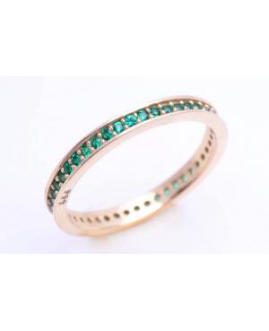Inel din aur 14K dama tip verigheta Smarald R13 Acasa