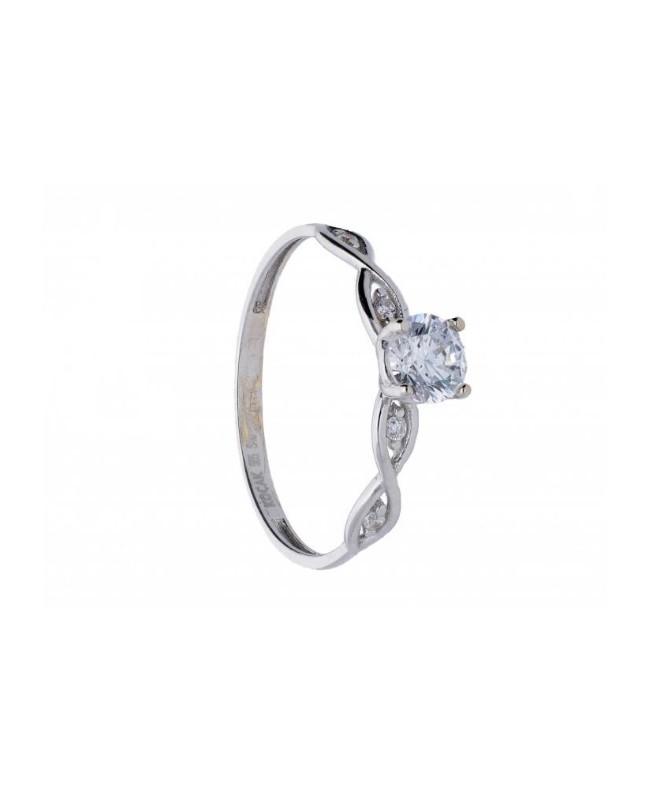Inel de logodna Solitaire din aur alb - Bijuterii aur Acasa