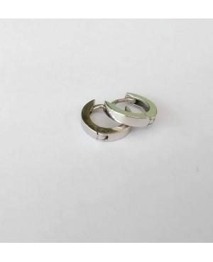 Cercei aur alb 14K nou nascuti bebelusi rotunzi tortite simple 6mm Cercei din aur