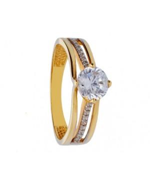 Inel de logodna din aur galben 14K Acasa
