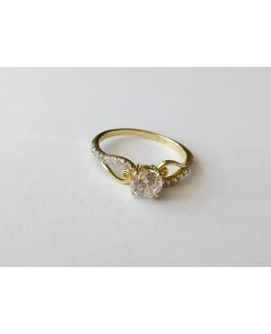 Inel de logodna din aur 14K cu pietre Zirconiu R12 Acasa