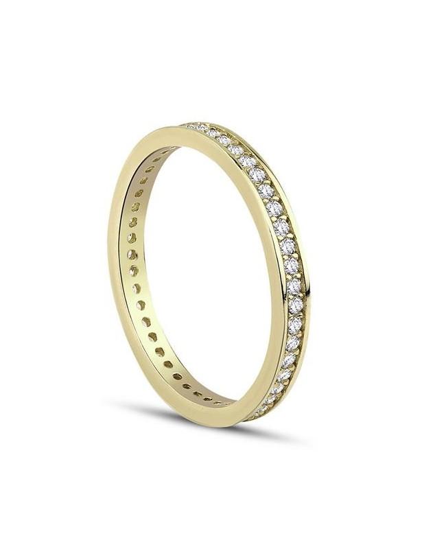 Inel de aur 14k bijuterii dama verigheta tennis R12 Acasa
