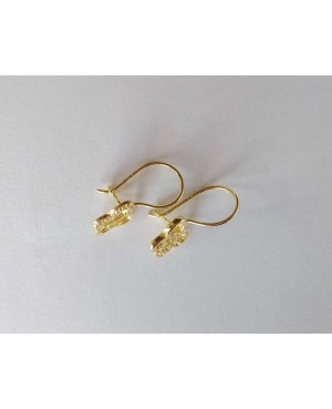 Cercei aur 14K Tortite fete copii Fluturasi cu pietre albe 1.2 cm Cercei din aur