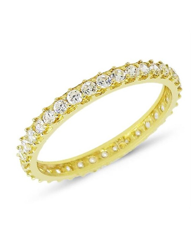 Inel din aur galben 14k tip verigheta cu pietre Zirconiu albe masura 21 Acasa