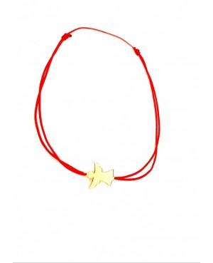 Bratara reglabila cu snur rosu, bebelusi, copii cu Ingeras din aur 14K, 1 cm Acasa